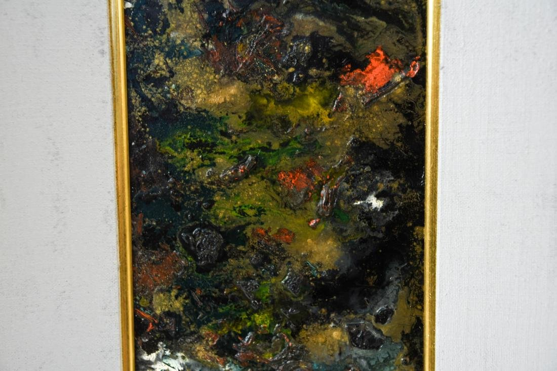 MID-CENTURY ABSTRACT EXPRESSIONIST OIL ON MASONITE - 3