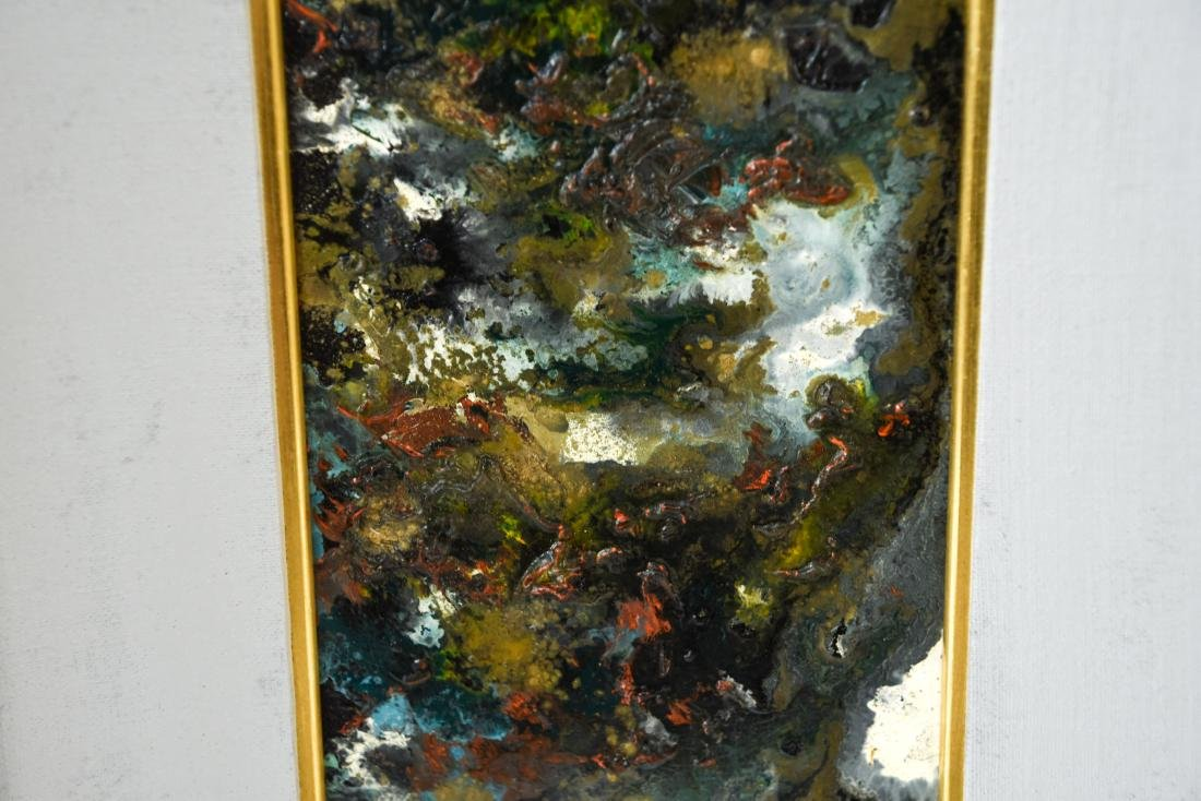 MID-CENTURY ABSTRACT EXPRESSIONIST OIL ON MASONITE - 4
