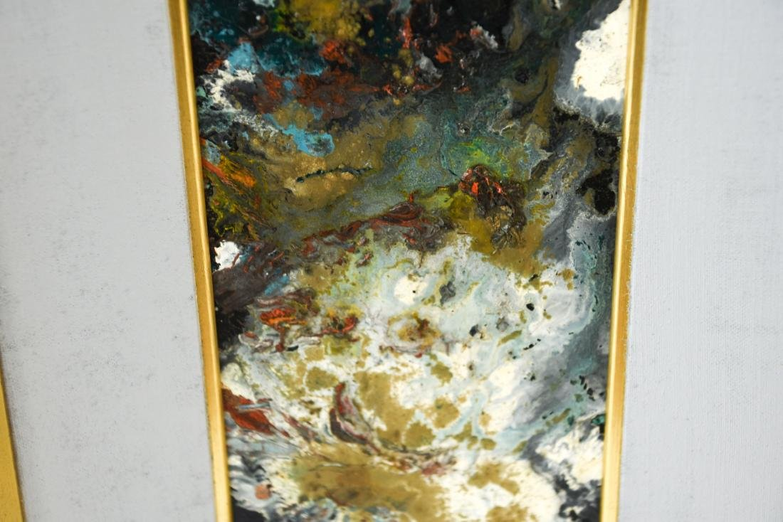 MID-CENTURY ABSTRACT EXPRESSIONIST OIL ON MASONITE - 5