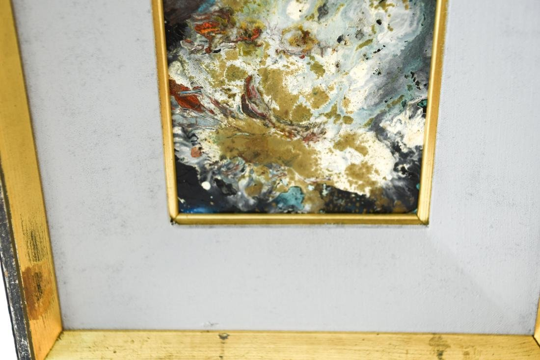 MID-CENTURY ABSTRACT EXPRESSIONIST OIL ON MASONITE - 6