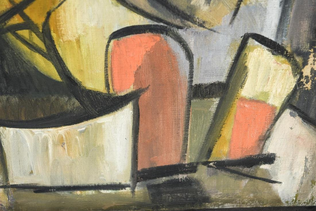 MID-CENTURY CUBIST FIGURE 1950S OIL ON CANVAS - 4