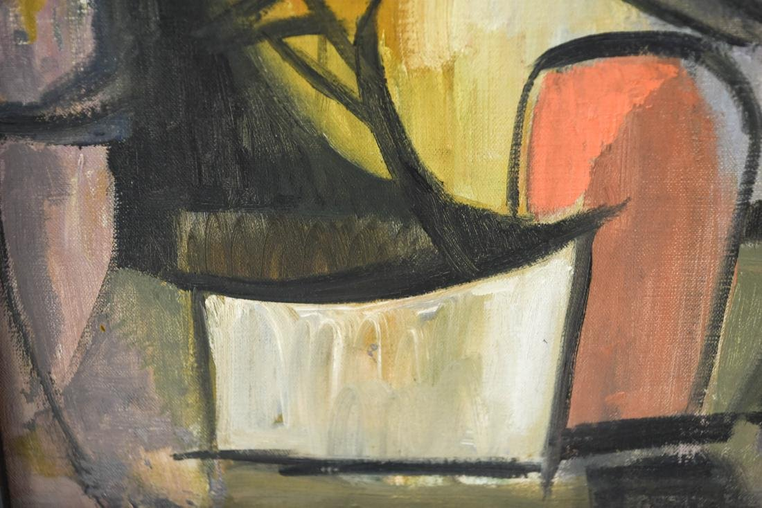 MID-CENTURY CUBIST FIGURE 1950S OIL ON CANVAS - 5