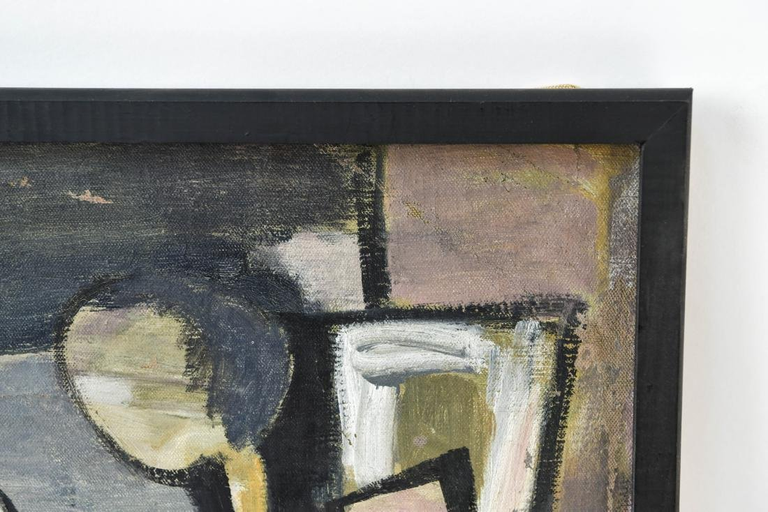 MID-CENTURY CUBIST FIGURE 1950S OIL ON CANVAS - 7