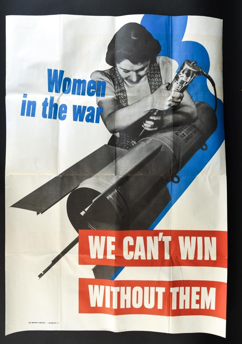 """WWII """"WOMEN IN THE WAR"""" POSTER"""