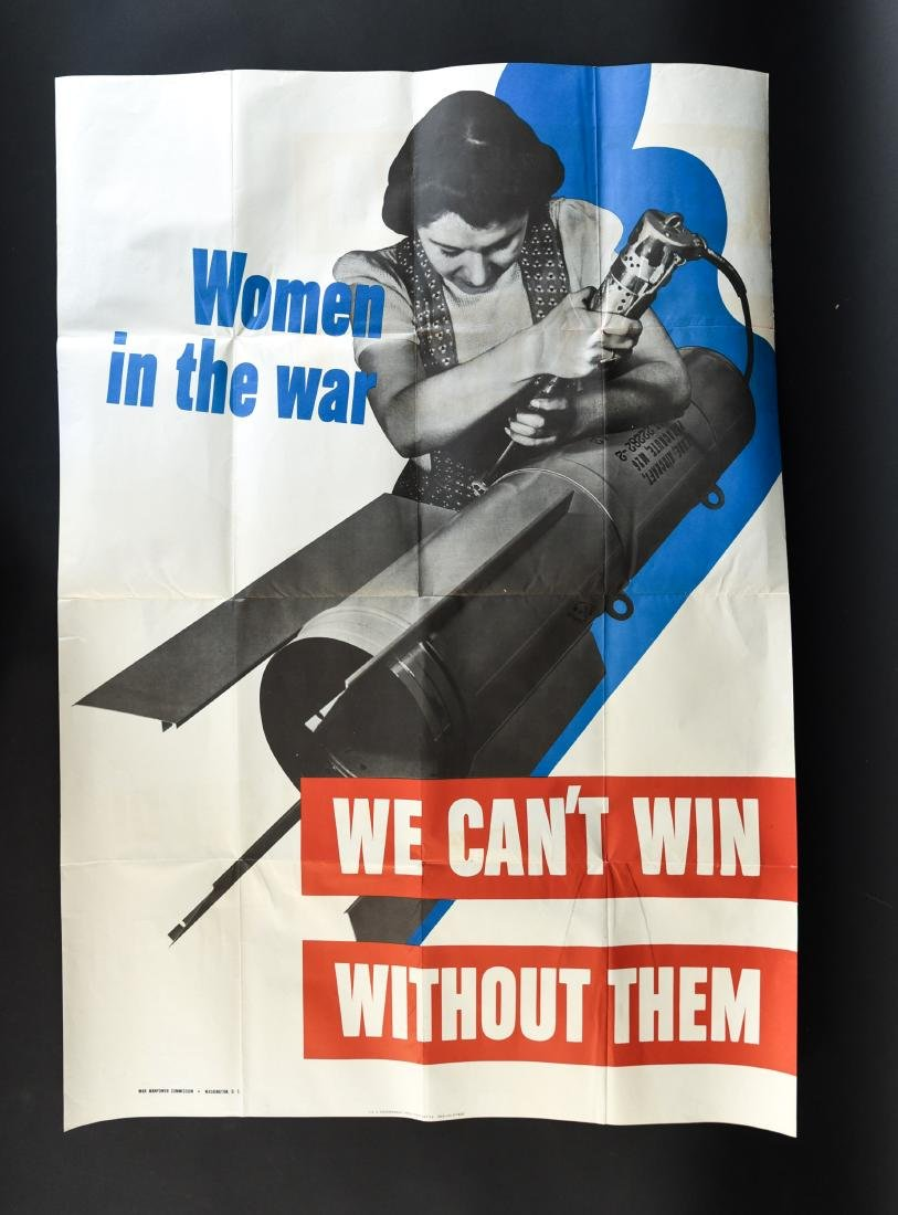 """WWII """"WOMEN IN THE WAR"""" POSTER - 2"""