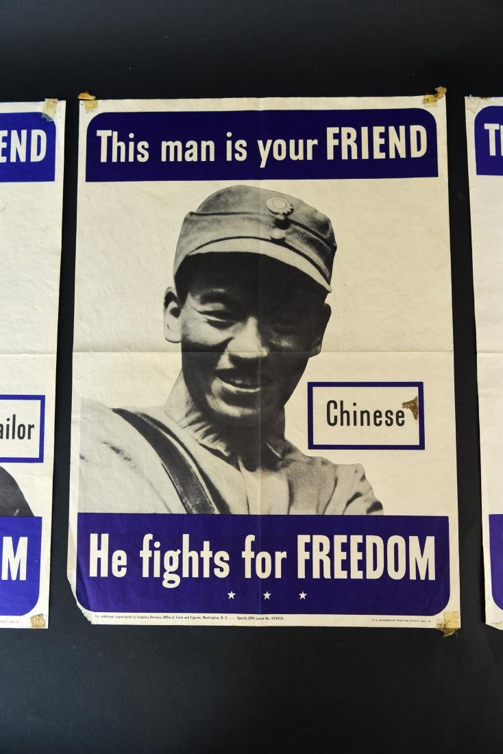 (4) WWII ALLIED FIGHTERS POSTERS - 3