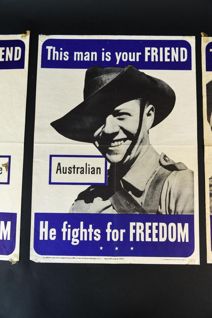 (4) WWII ALLIED FIGHTERS POSTERS - 4