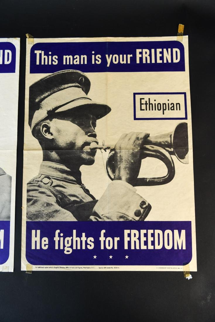 (4) WWII ALLIED FIGHTERS POSTERS - 5