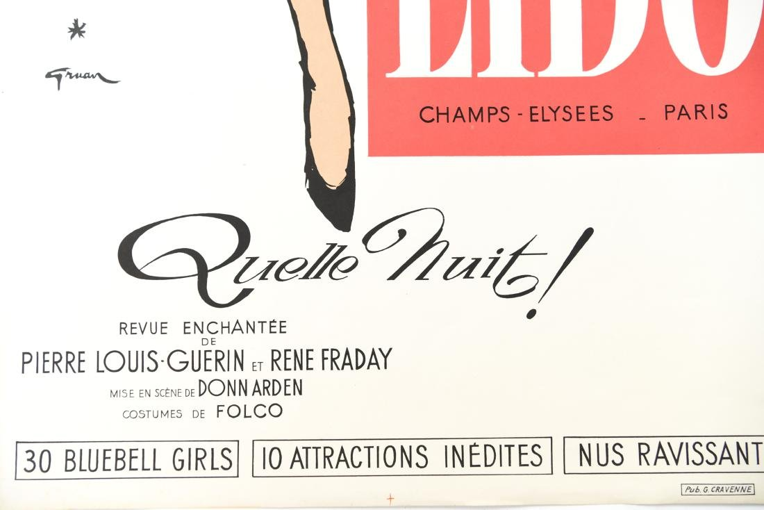 (5) VINTAGE FRENCH DANCE HALL POSTERS - 3