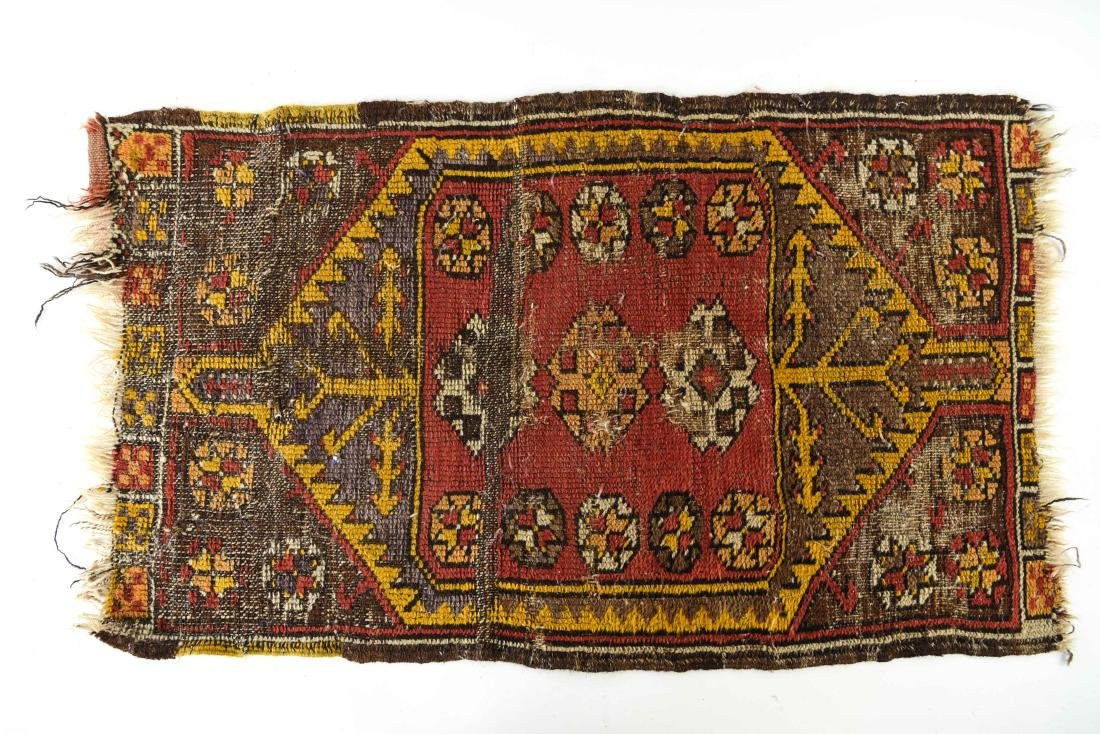 SMALL ANTIQUE TRIBAL RUG