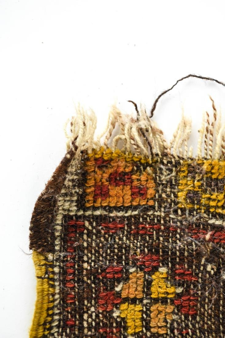 SMALL ANTIQUE TRIBAL RUG - 5