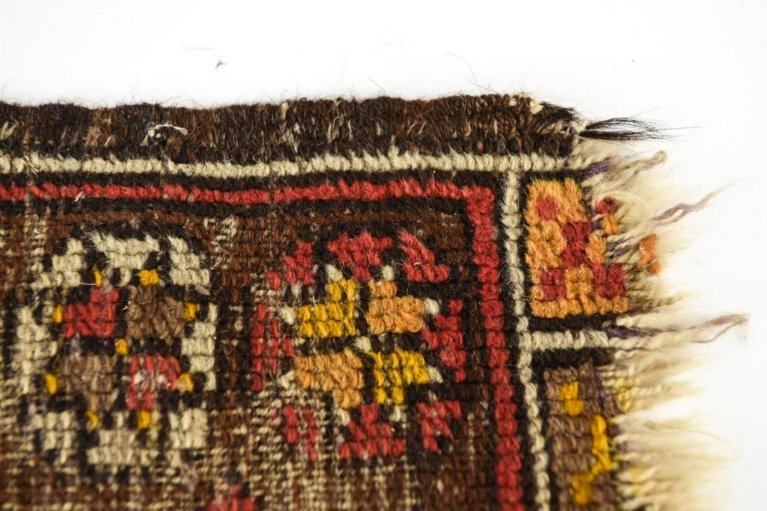 SMALL ANTIQUE TRIBAL RUG - 7
