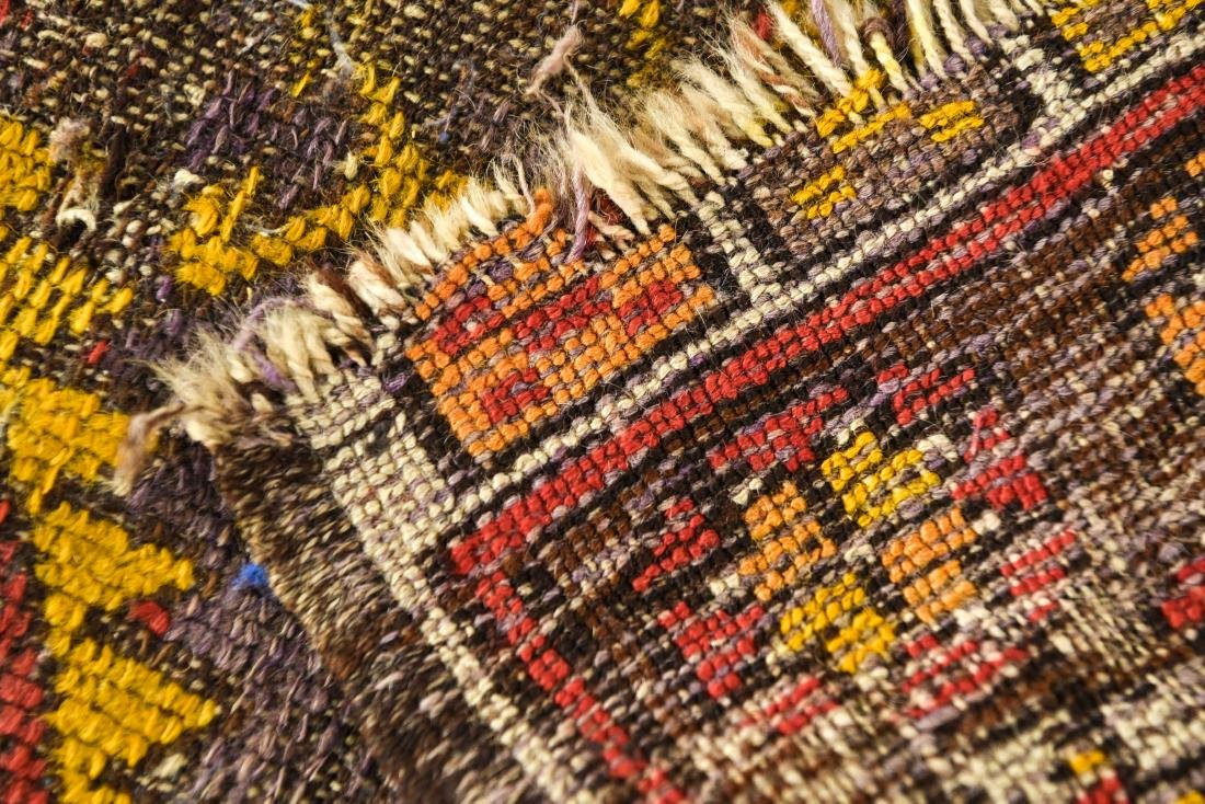 SMALL ANTIQUE TRIBAL RUG - 8