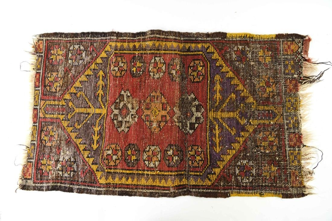 SMALL ANTIQUE TRIBAL RUG - 9