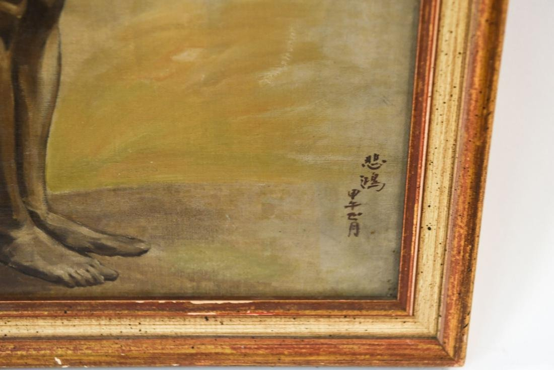 CHINESE ARTIST NUDE OIL ON BOARD PAINTING - 2