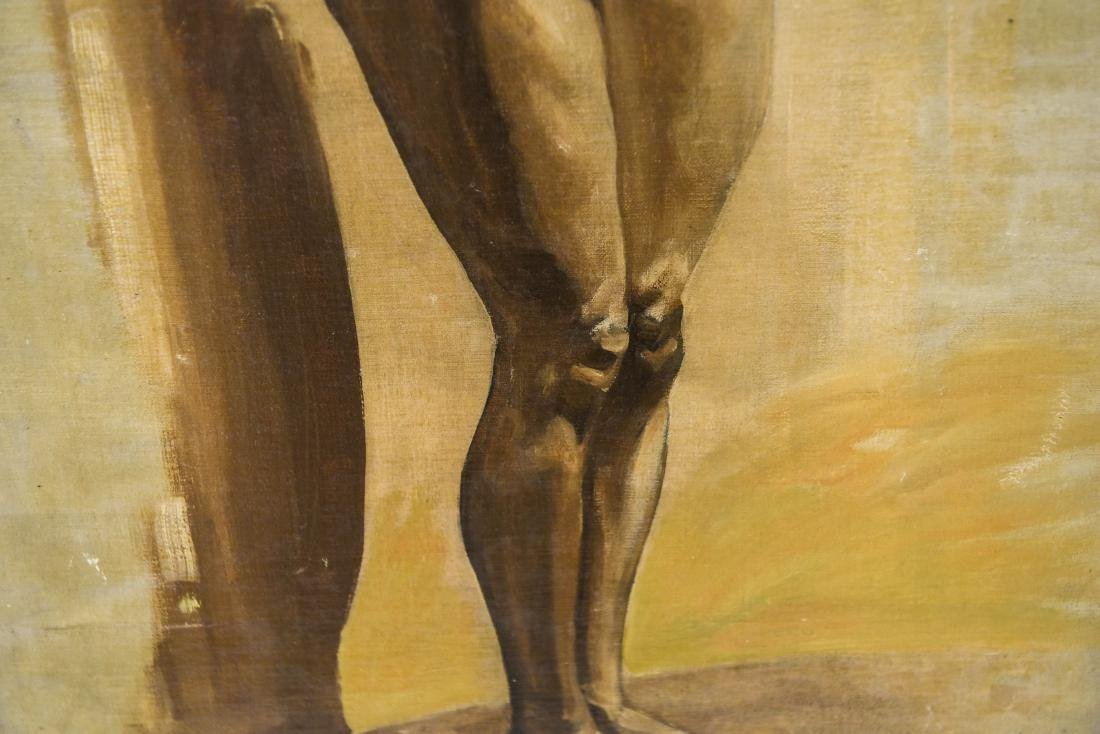 CHINESE ARTIST NUDE OIL ON BOARD PAINTING - 6