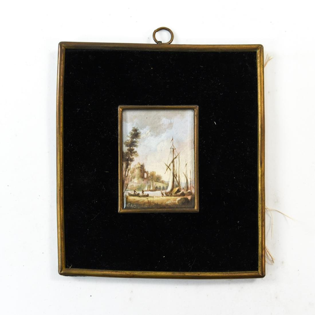 MINIATURE PAINTING OF A SEAPORT