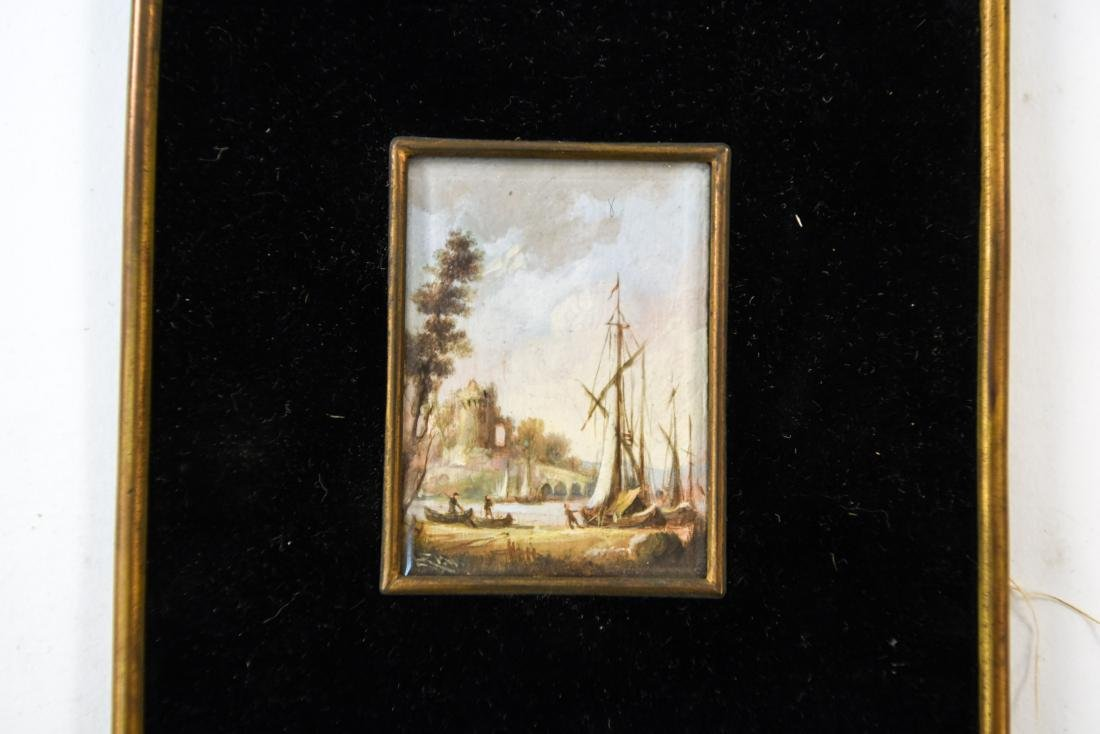 MINIATURE PAINTING OF A SEAPORT - 2