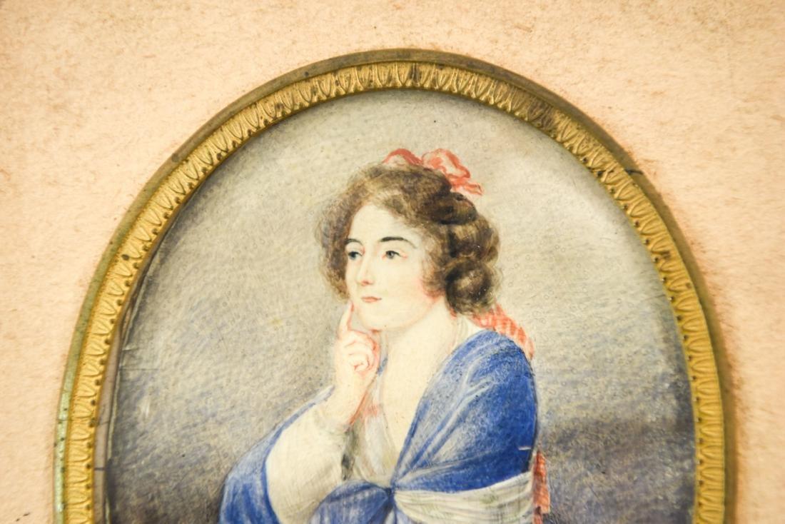 MINIATURE PORTRAIT OF WOMAN WITH MANDOLIN - 2