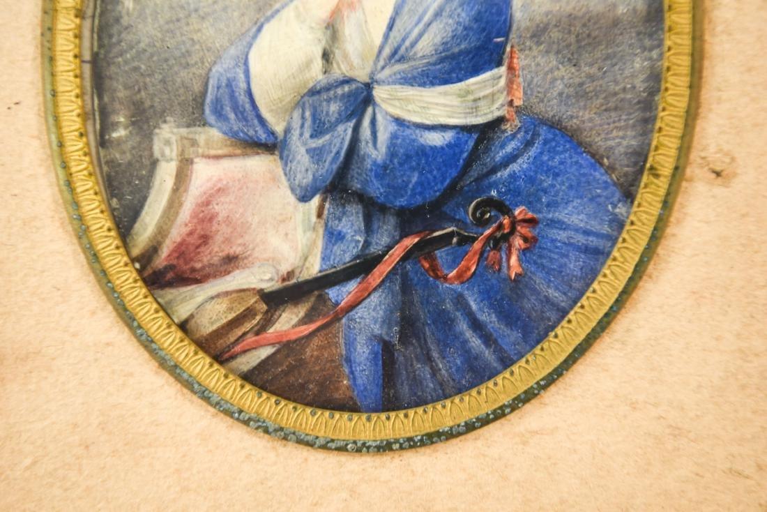 MINIATURE PORTRAIT OF WOMAN WITH MANDOLIN - 3