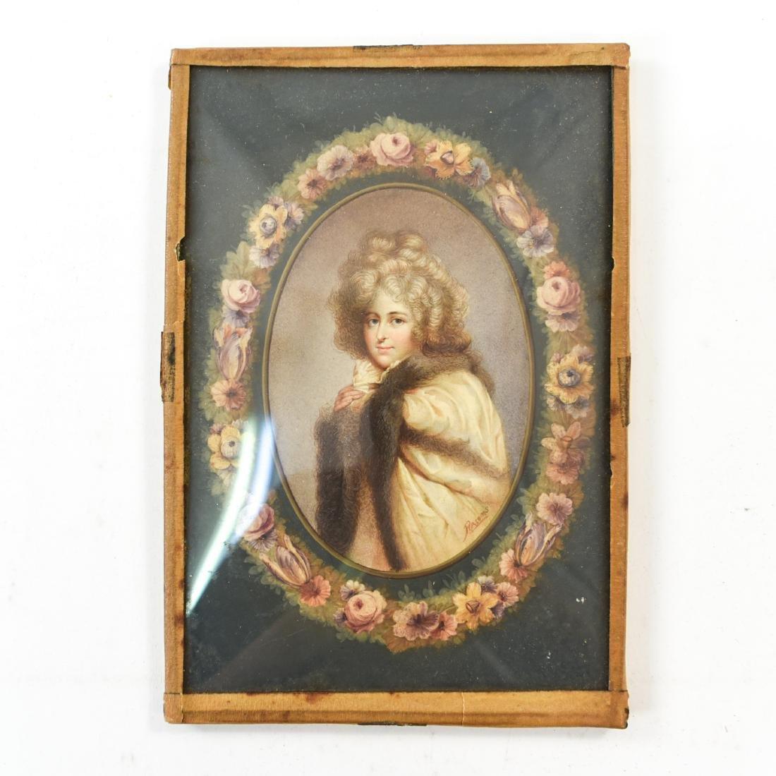 PORTRAIT OF WOMAN IN CONVEX GLASS