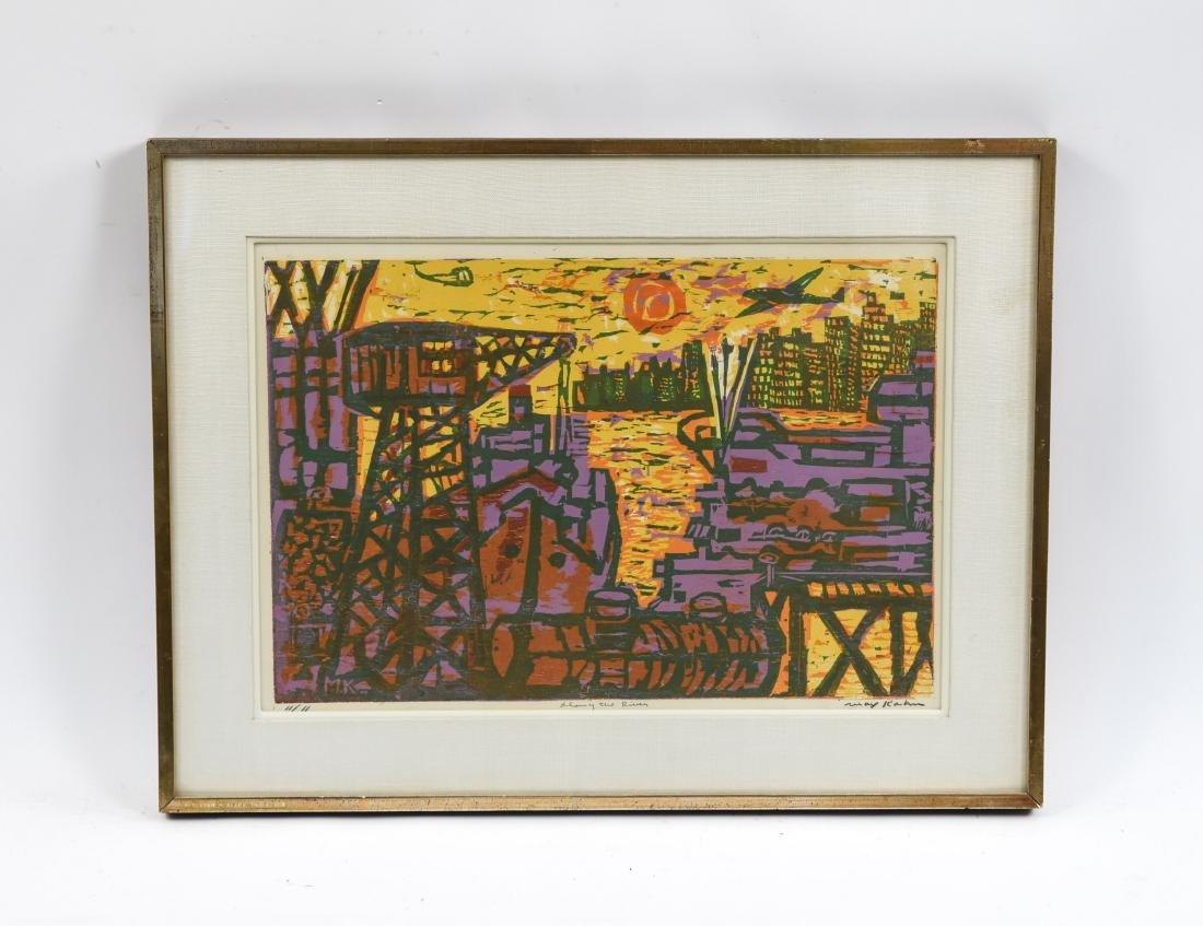 MAX KAHN (RUSSIAN/ AMERICAN 1902-2005) WOODCUT
