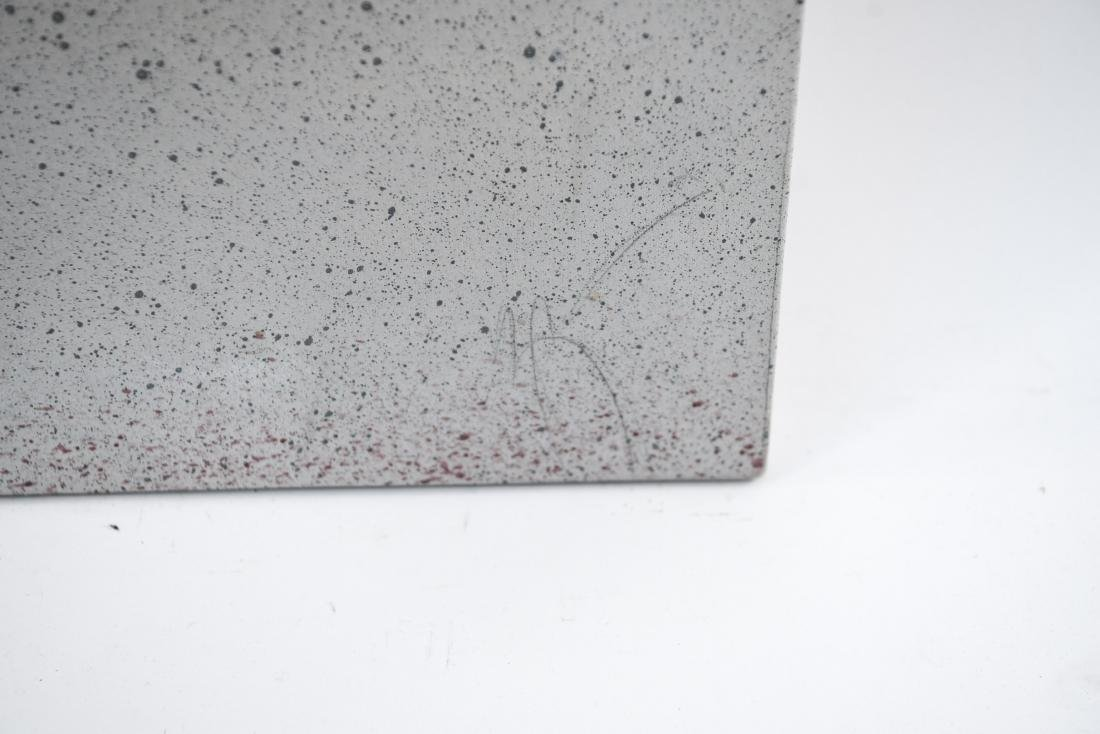 20TH CENTURY GRAY ABSTRACT O/C PAINTING - 2