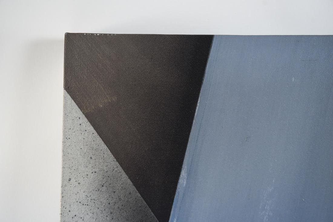 20TH CENTURY GRAY ABSTRACT O/C PAINTING - 8