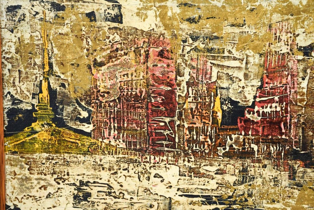ABSTRACT CITYSCAPE OIL PAINTING - 2