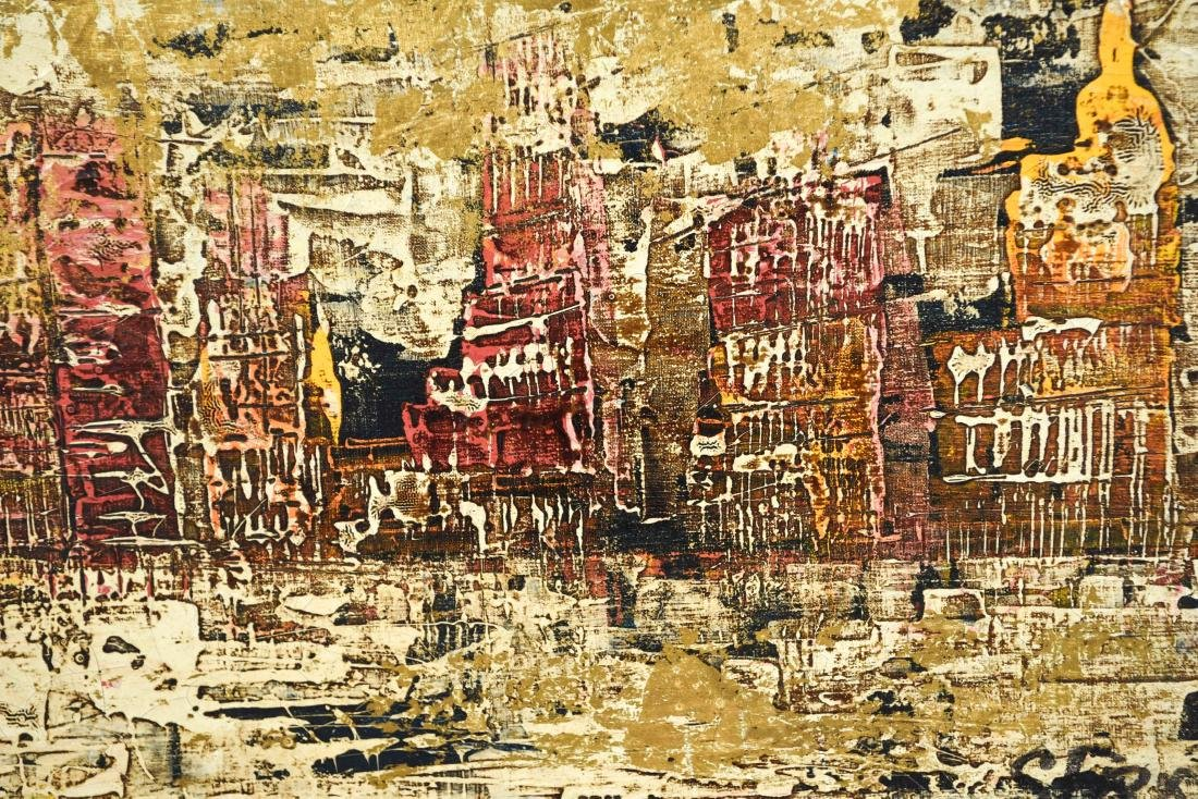 ABSTRACT CITYSCAPE OIL PAINTING - 3