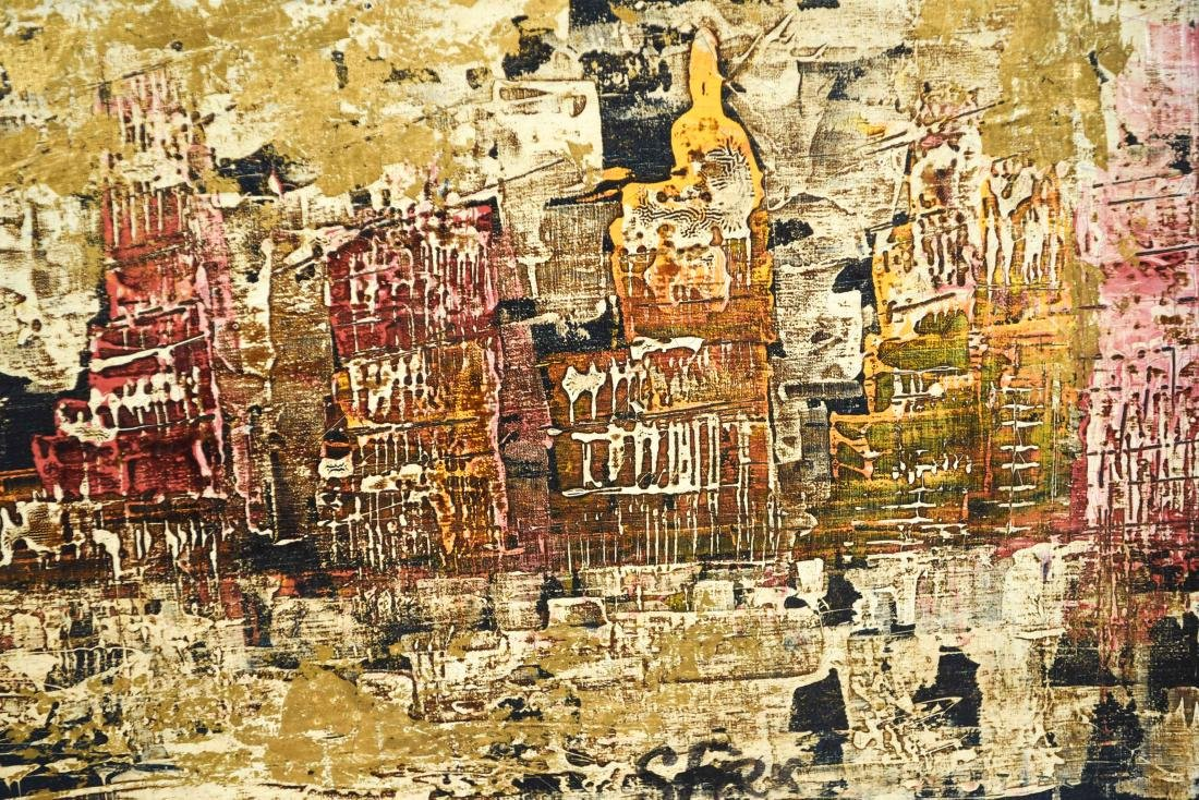 ABSTRACT CITYSCAPE OIL PAINTING - 4