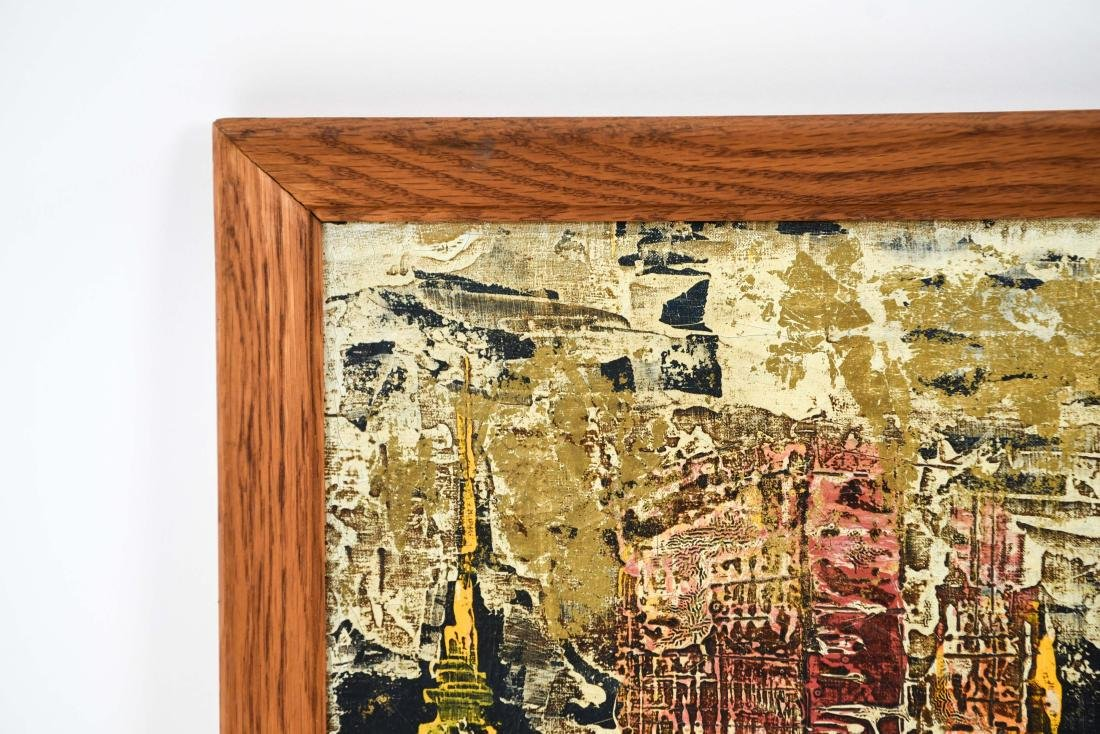 ABSTRACT CITYSCAPE OIL PAINTING - 6