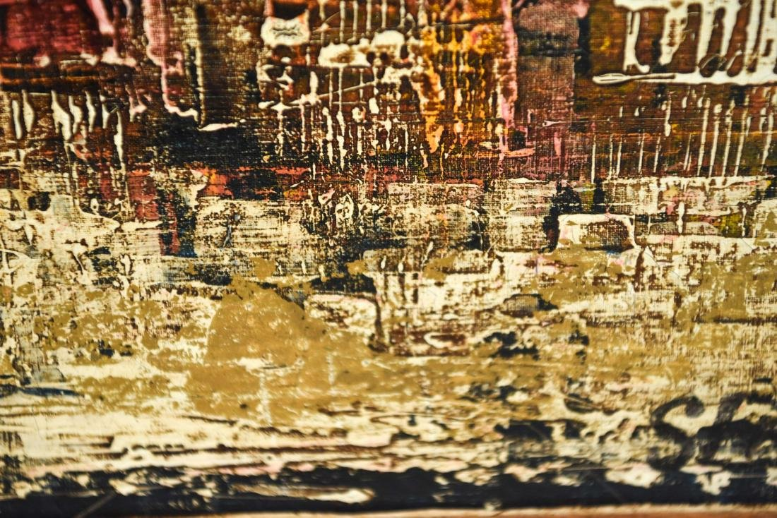 ABSTRACT CITYSCAPE OIL PAINTING - 8