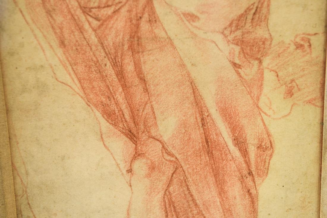 OLD MASTER SEPIA DRAWING PRINT OF ROBED MALE - 5