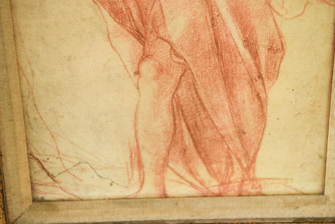 OLD MASTER SEPIA DRAWING PRINT OF ROBED MALE - 6