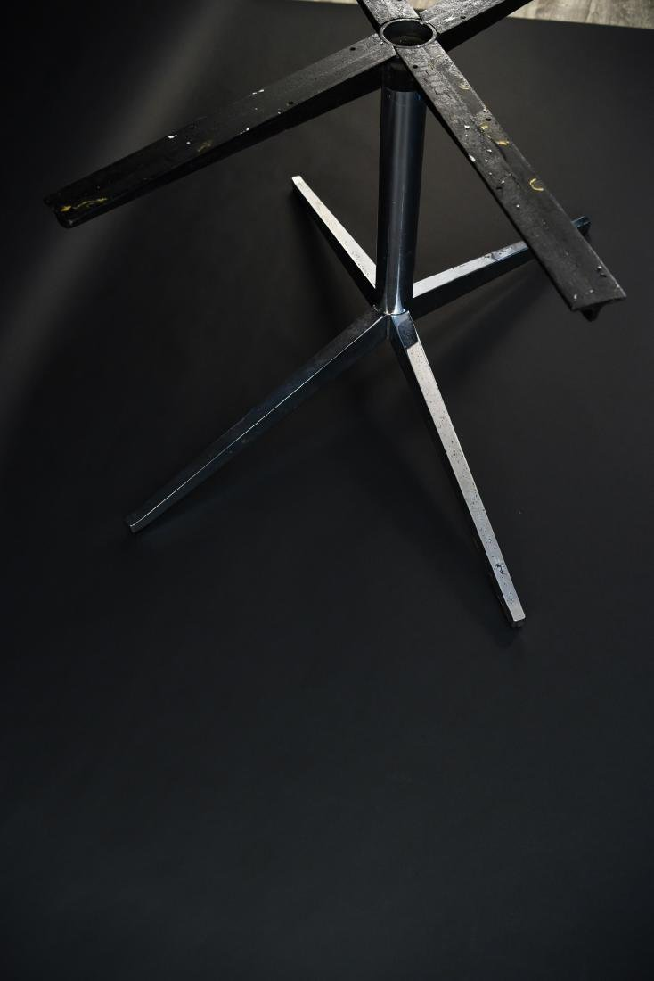 FLORENCE KNOLL X-FORM PEDESTAL TABLE BASE - 7