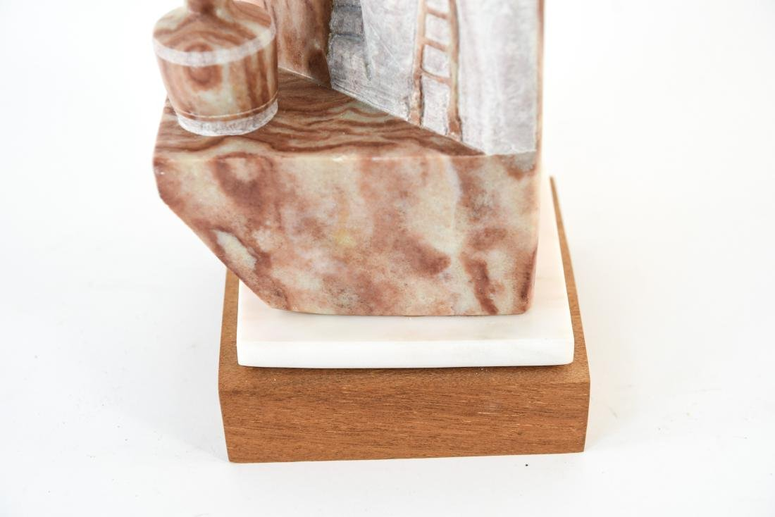 ALVIN K. MARSHALL CARVED ALABASTER SCULPTURE - 4