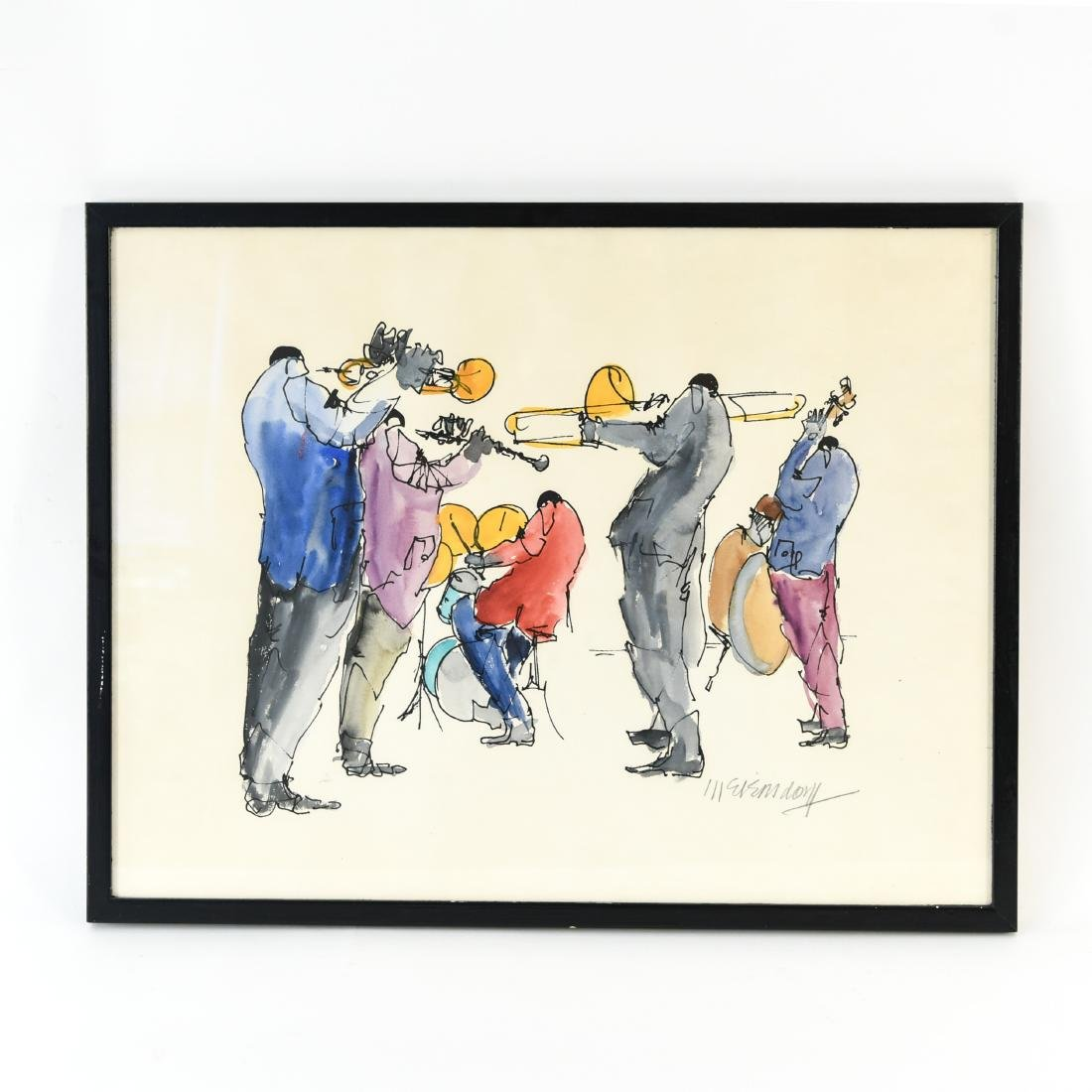 INK & WATERCOLOR OF JAZZ MUSICIANS