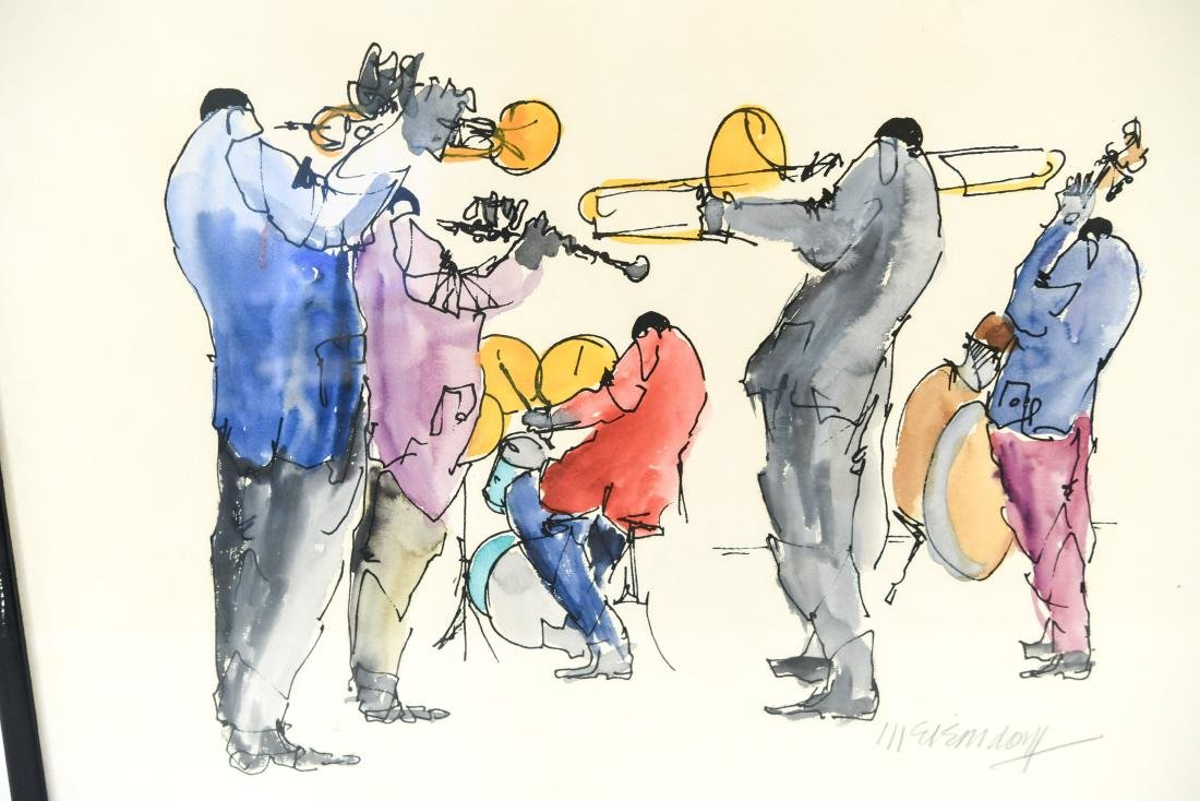 INK & WATERCOLOR OF JAZZ MUSICIANS - 3