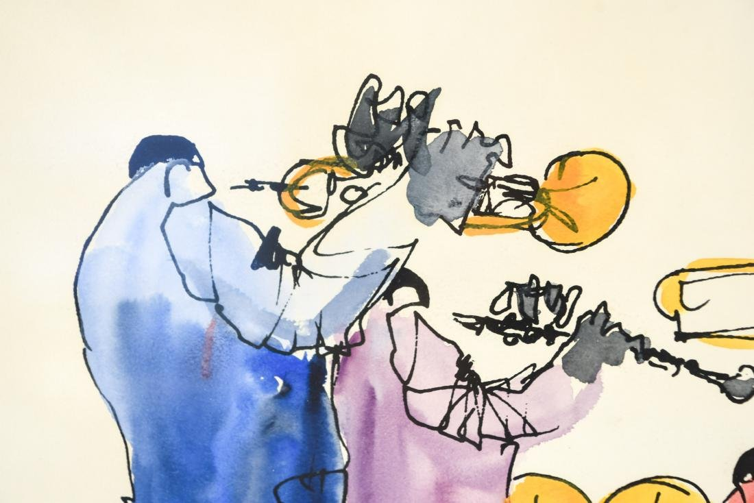 INK & WATERCOLOR OF JAZZ MUSICIANS - 4