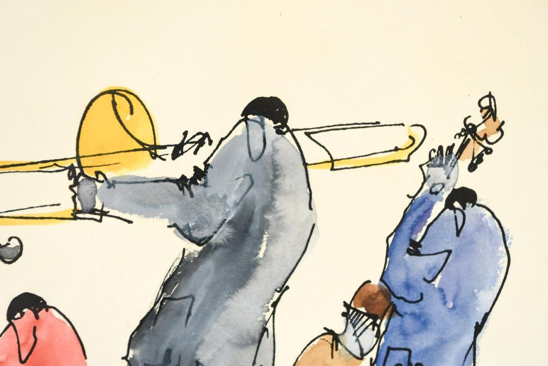INK & WATERCOLOR OF JAZZ MUSICIANS - 5