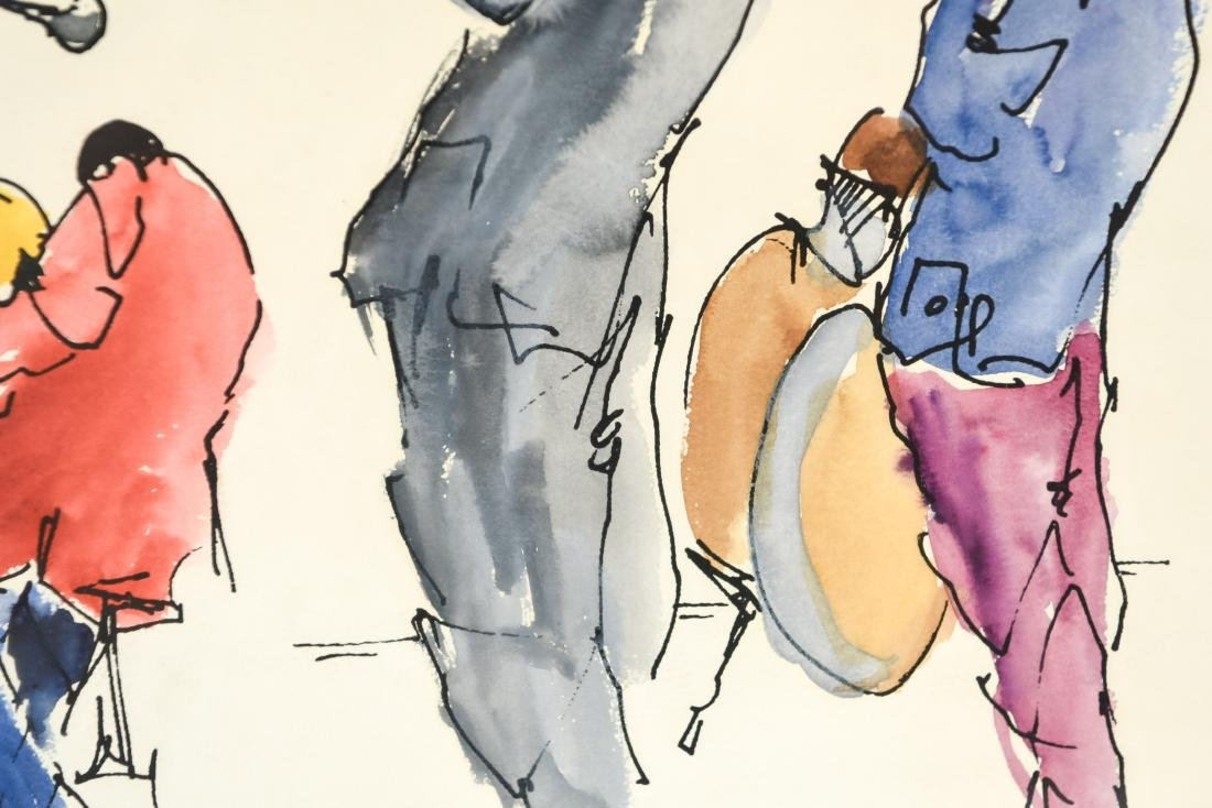 INK & WATERCOLOR OF JAZZ MUSICIANS - 6