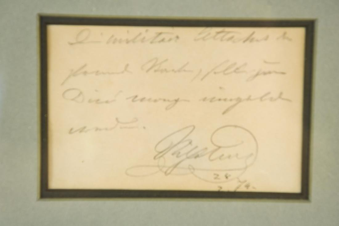 AUTOGRAPHED NOTE DATED 28/7/79 OF A GERMAN GENERAL - 2