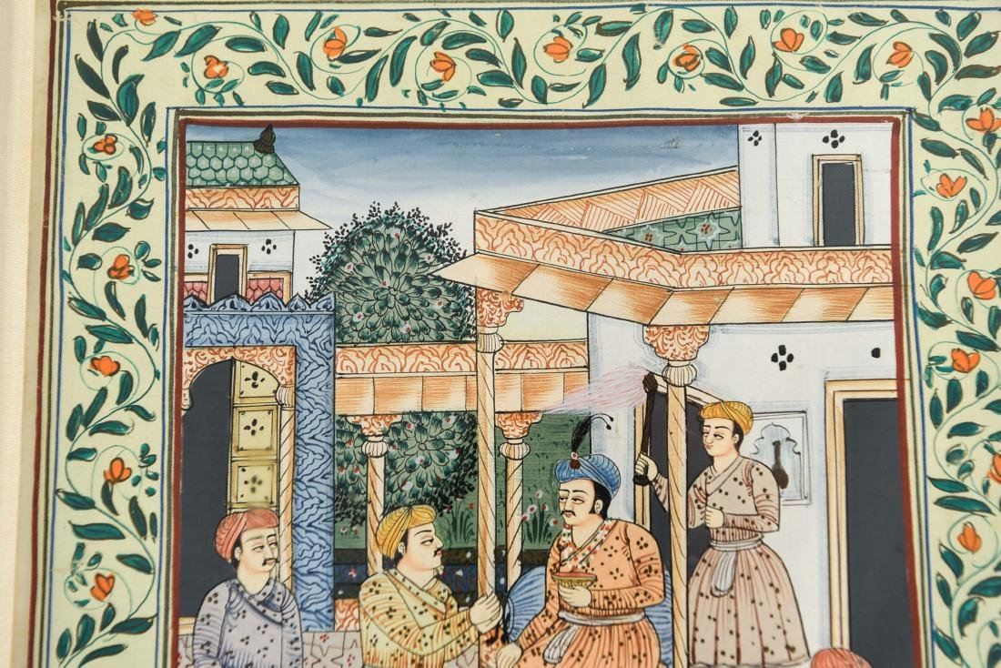 INDIAN ILLUMINATED PAGES GROUPING OF (5) - 3