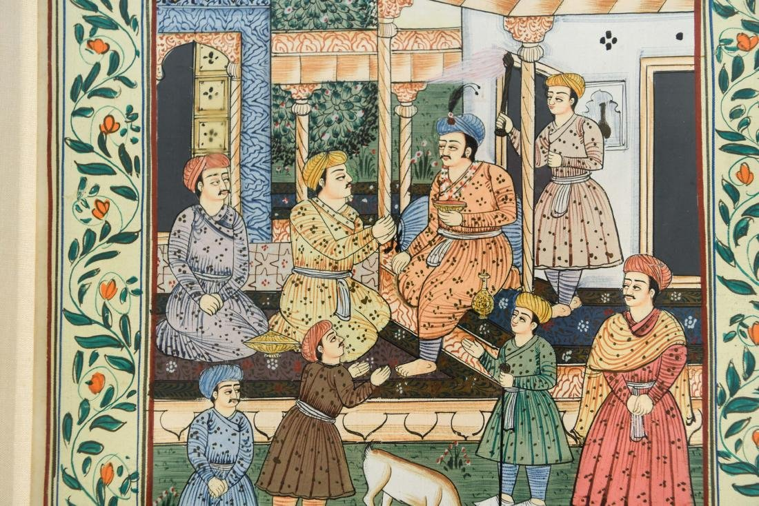 INDIAN ILLUMINATED PAGES GROUPING OF (5) - 4