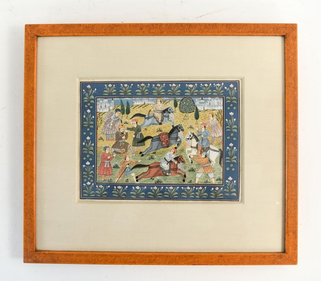 INDIAN ILLUMINATED PAGES GROUPING OF (5) - 6