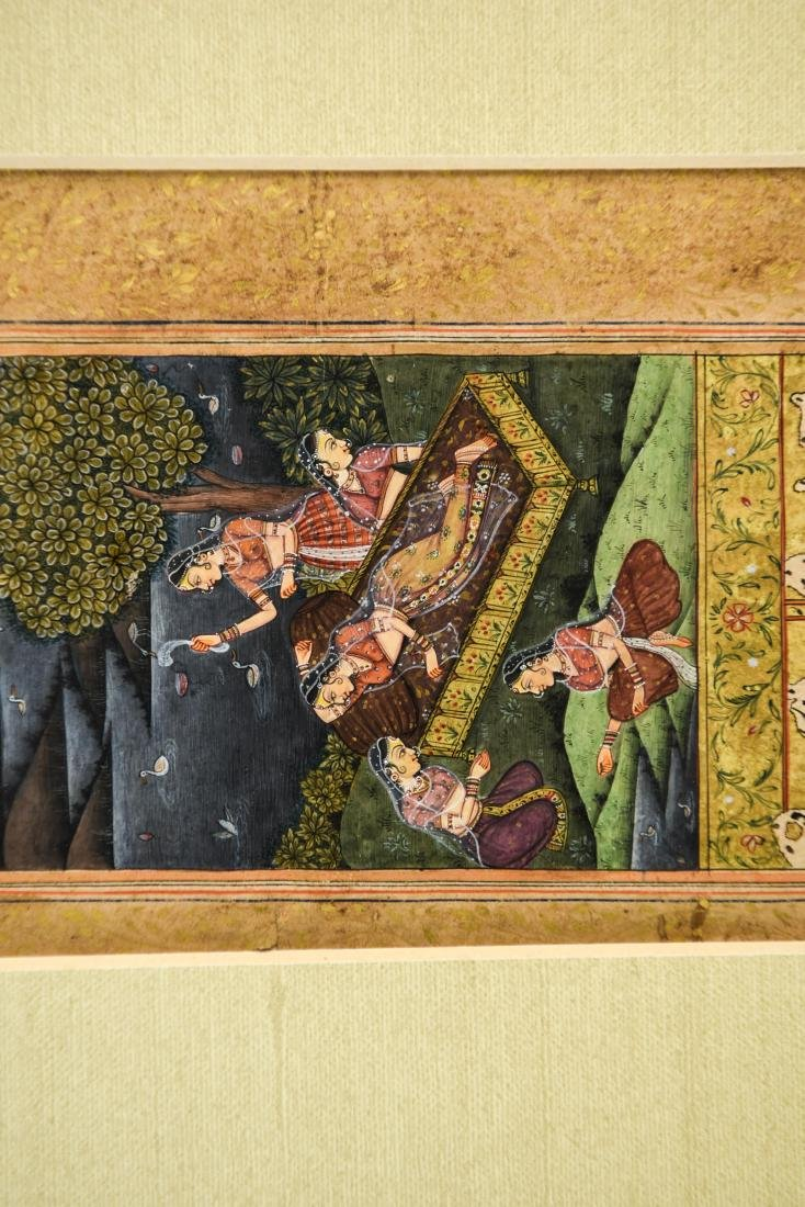 INDIAN ILLUMINATED PAGES GROUPING OF (5) - 9