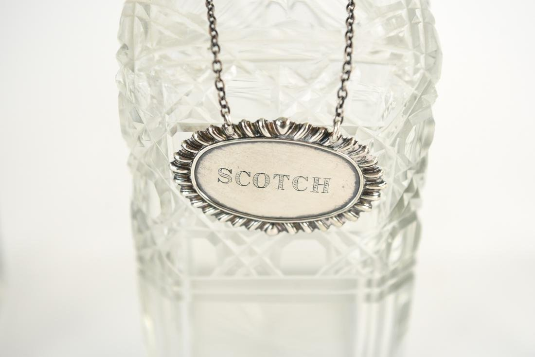 TANTALUS DECANTER SET WITH STERLING LABELS - 10