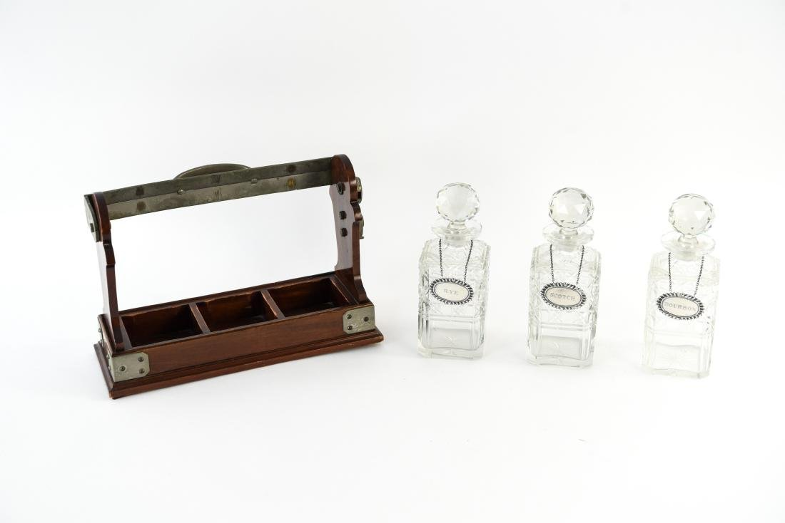 TANTALUS DECANTER SET WITH STERLING LABELS - 9