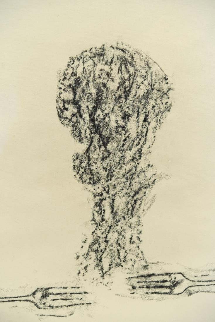 DOMINICK DIMEO (B. 1927) CHARCOAL DRAWING ON PAPER - 3